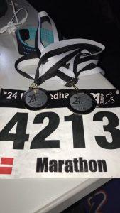 Medaljer for gennemførsel af 2 x marathon i sæby